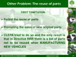 other problem the reuse of parts