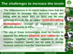 the challenges to increase the levels