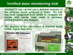 verified data monitoring trial