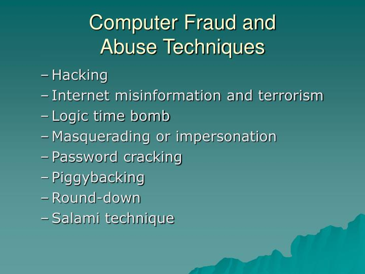 Computer Fraud and