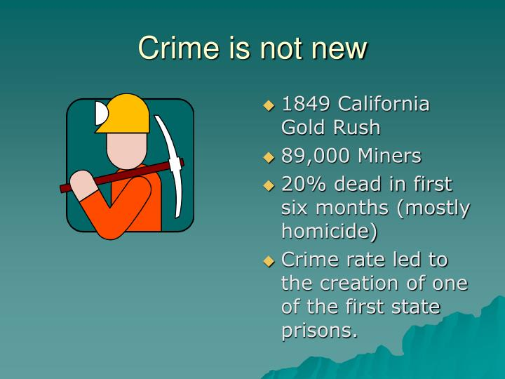 Crime is not new