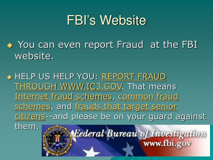 FBI's Website