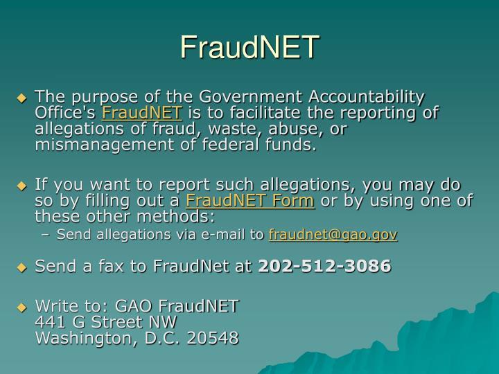 FraudNET