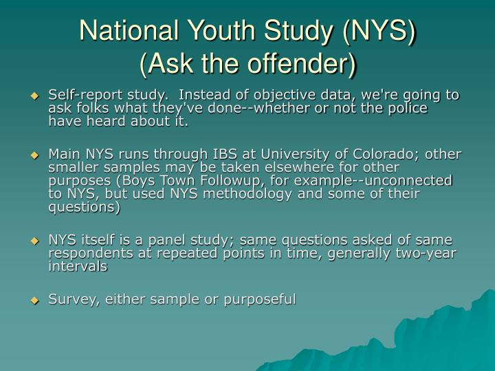 National Youth Study (NYS)
