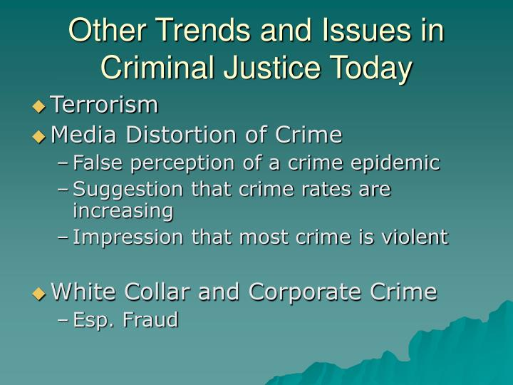 Other Trends and Issues in Criminal Justice Today