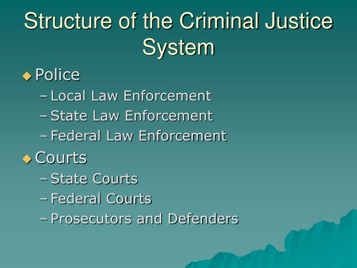 Structure of the Criminal Justice System