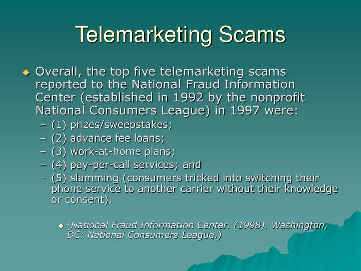 Telemarketing Scams