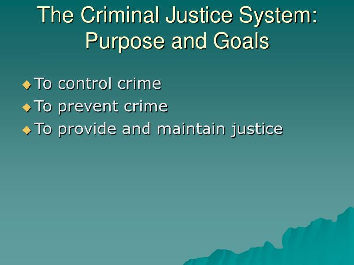 The Criminal Justice System:
