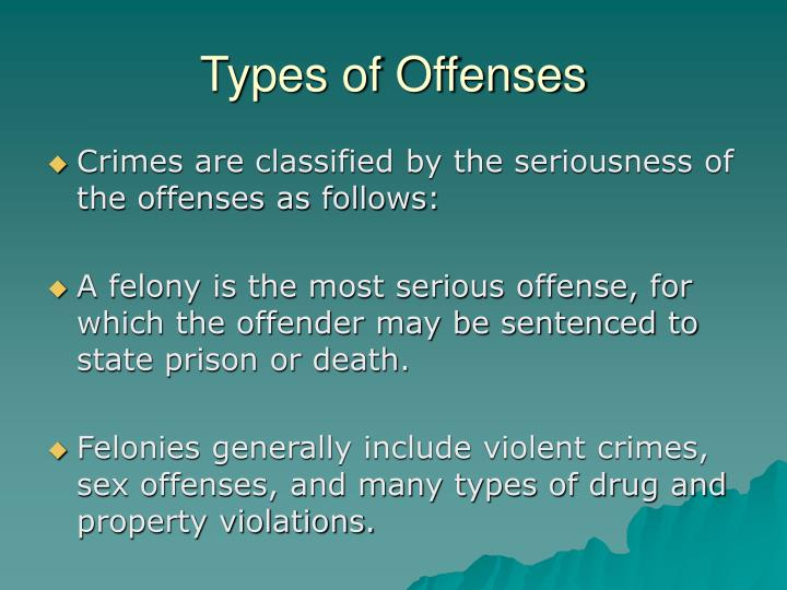Types of Offenses