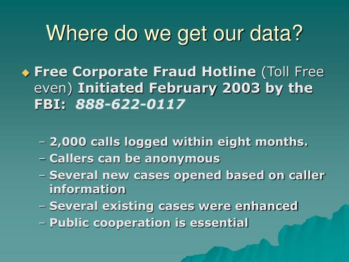 Where do we get our data?