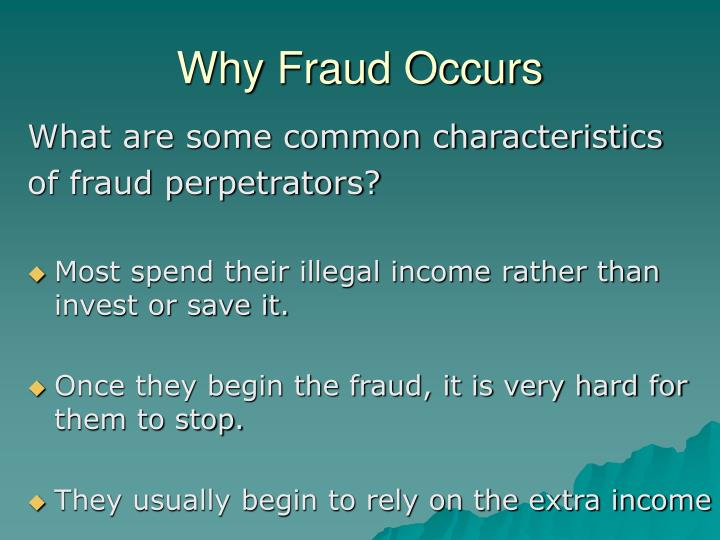 Why Fraud Occurs