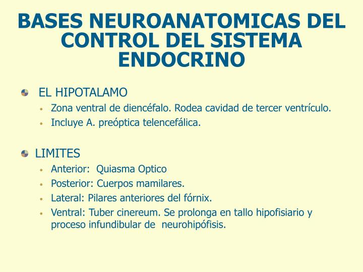 BASES NEUROANATOMICAS DEL CONTROL DEL SISTEMA ENDOCRINO