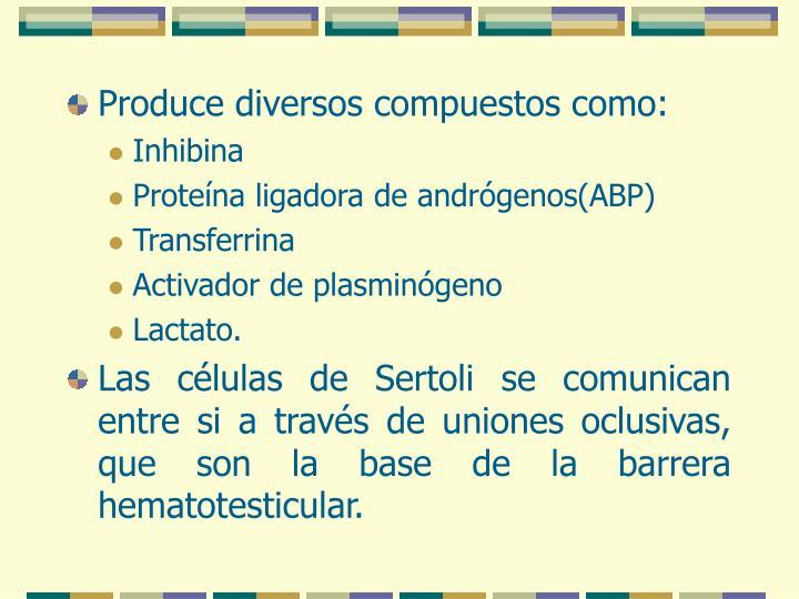 Produce diversos compuestos como: