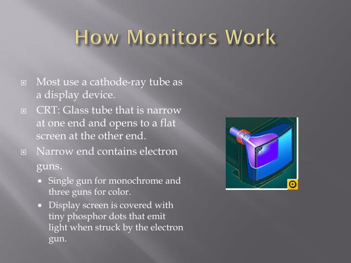 How monitors work