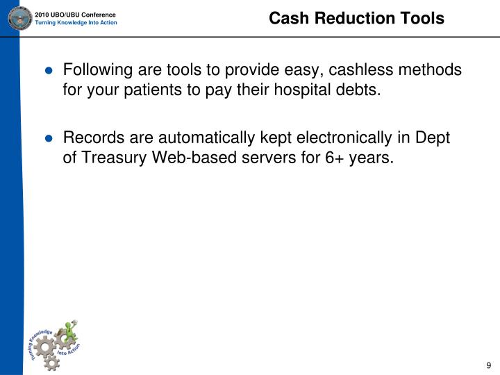Cash Reduction Tools