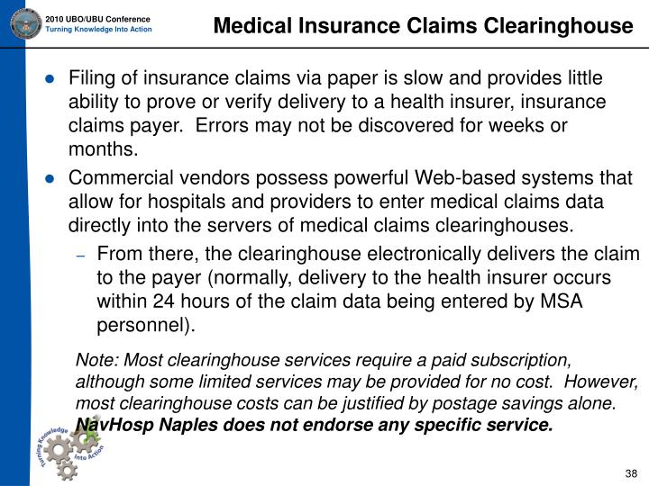 Medical Insurance Claims Clearinghouse