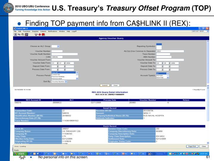U.S. Treasury's