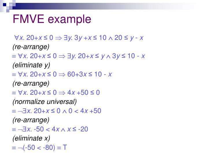 FMVE example