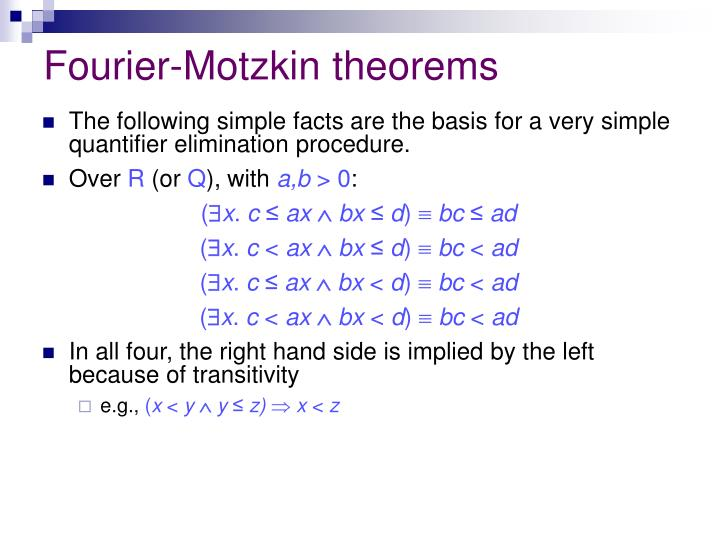 Fourier-Motzkin theorems