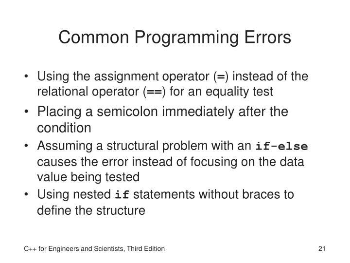 Common Programming Errors