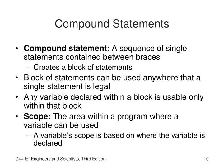 Compound Statements