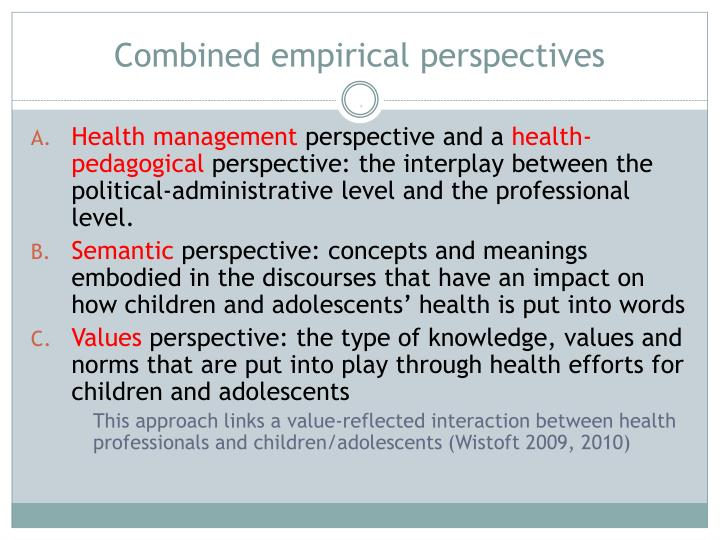 Combined empirical perspectives