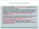 conclusion of the project