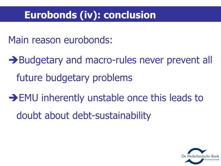 Eurobonds (iv): conclusion