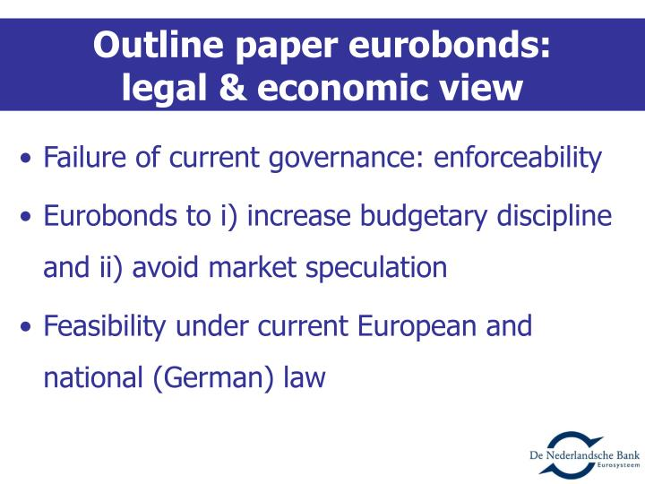 Outline paper eurobonds: