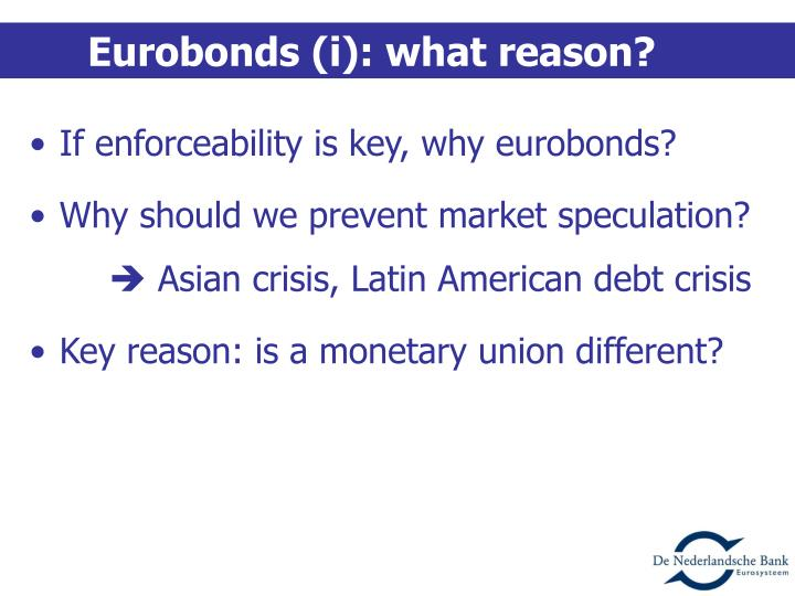 Eurobonds (i): what reason?