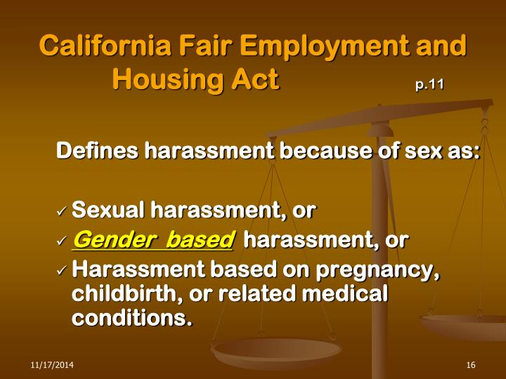 California Fair Employment and Housing Act