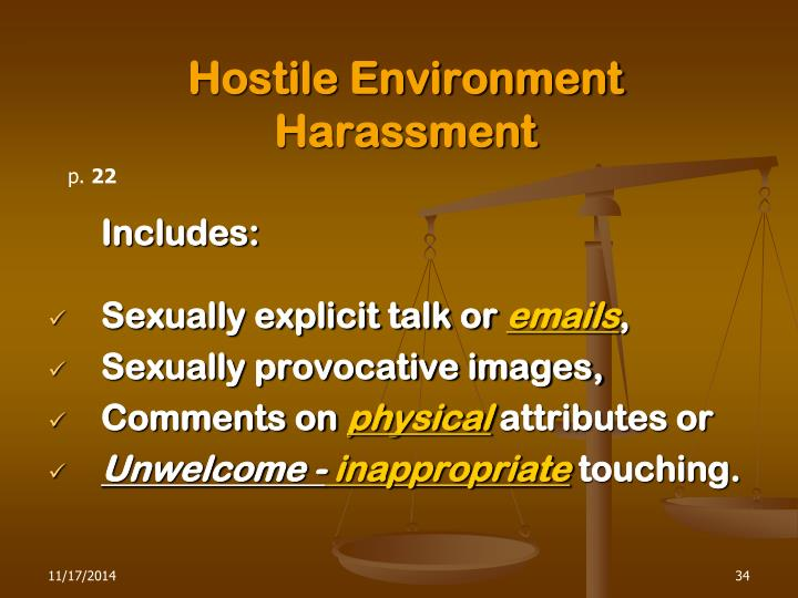 Hostile Environment Harassment