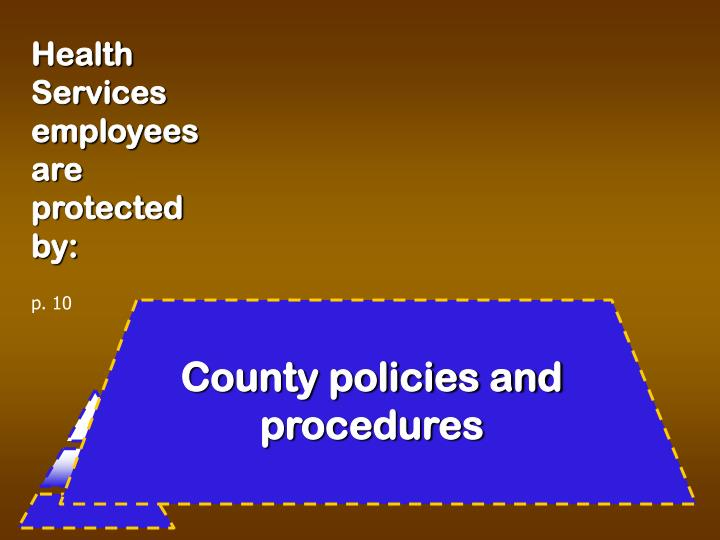 Health Services employees are protected by: