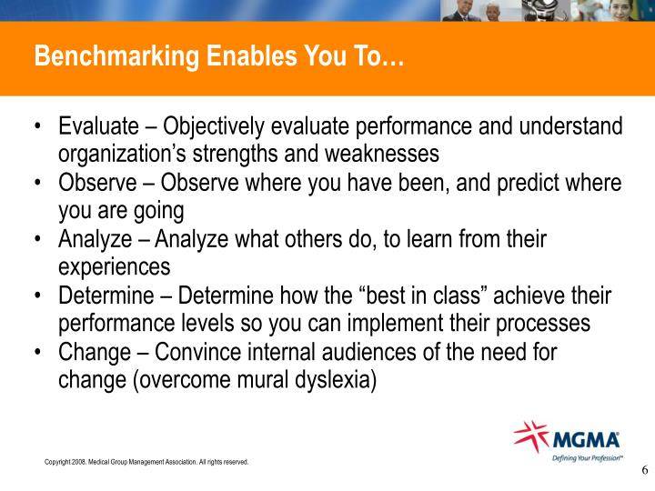 an analysis of the process of benchmarking in determining an organizations performance Start studying chapter 3 & 4 learn  in the decision-making process where information is  the five concepts that organizations must consider and accept.