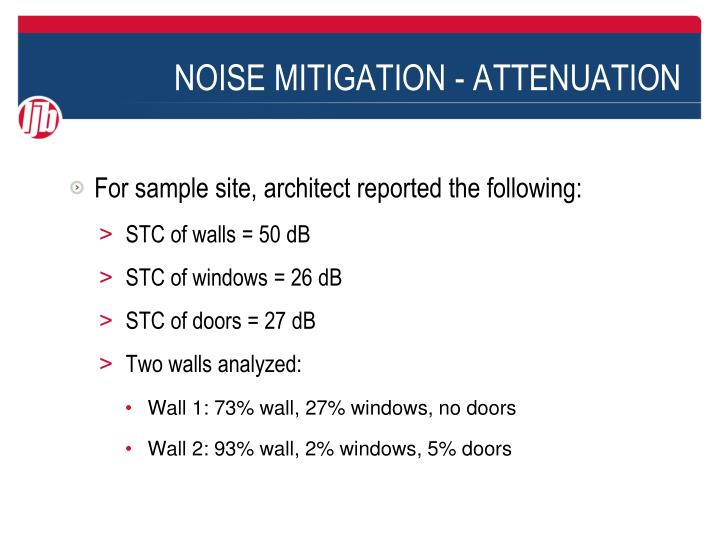 NOISE MITIGATION - ATTENUATION