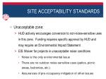 site acceptability standards2