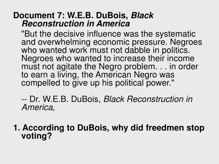 Document 7: W.E.B. DuBois,