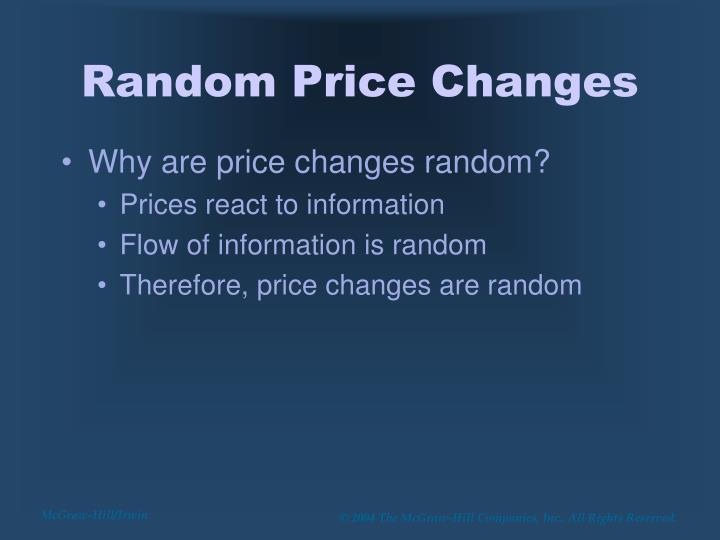 Random Price Changes