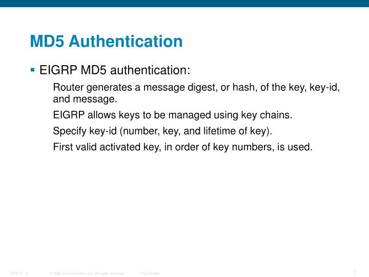 MD5 Authentication