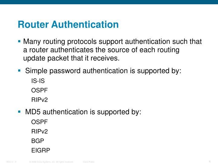 Router Authentication