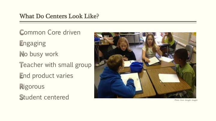 What Do Centers Look Like?