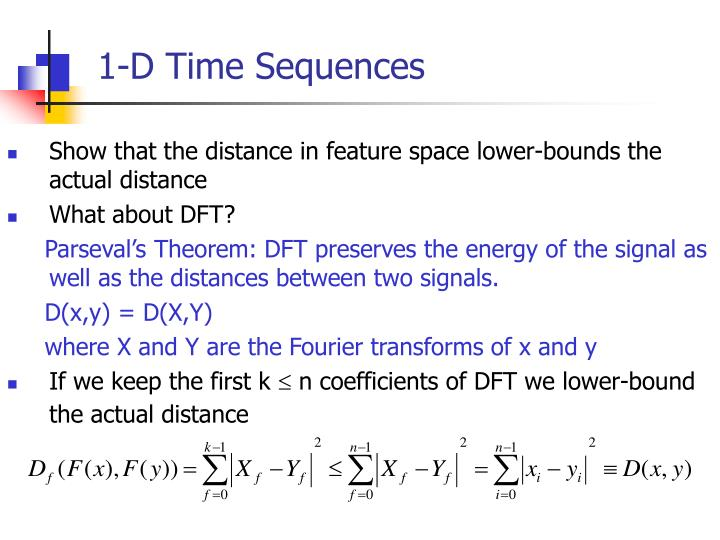 1-D Time Sequences