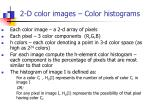 2 d color images color histograms