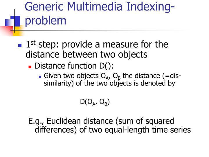 Generic Multimedia Indexing- problem