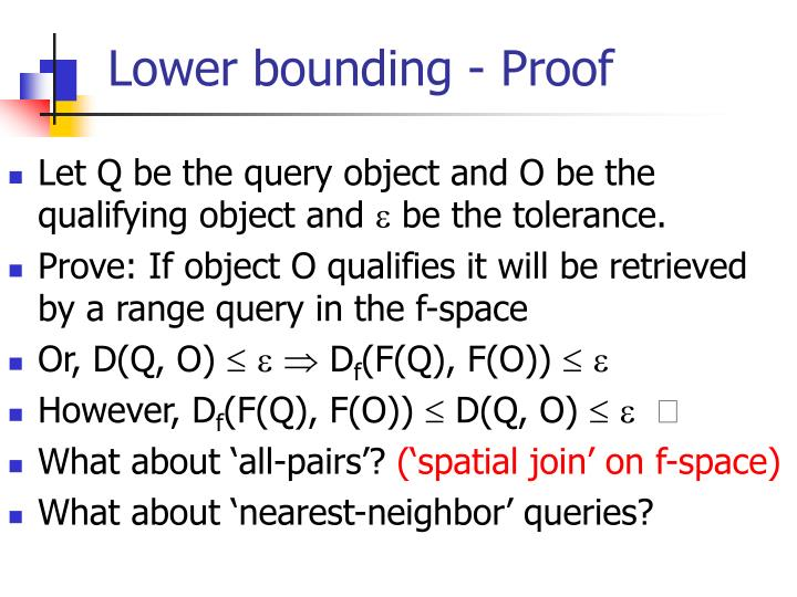 Lower bounding - Proof