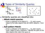 types of similarity queries1