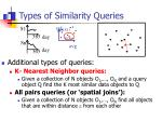 types of similarity queries4