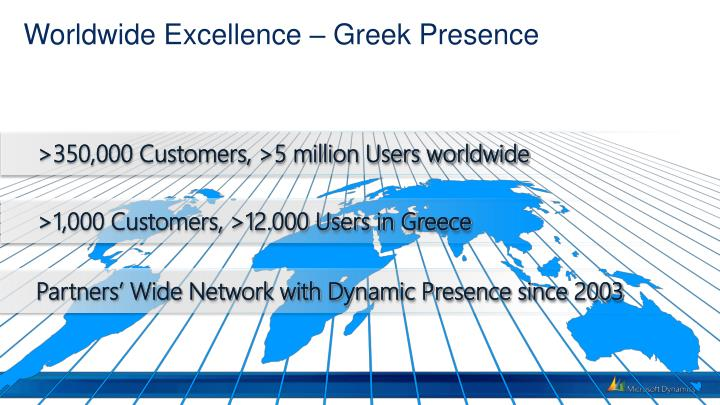 Worldwide excellence greek presence