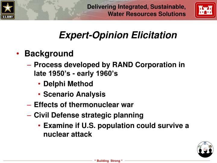 Expert-Opinion Elicitation
