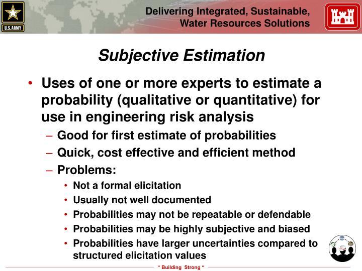 Subjective Estimation